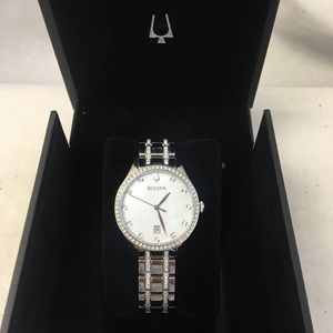 Bulova 94M144  Ladies Crystal Accented Watch